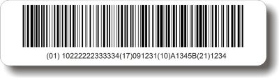 UDI Barcode Labels Custom Printed