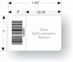 1in. x 1.5in Self Laminating Cable Label