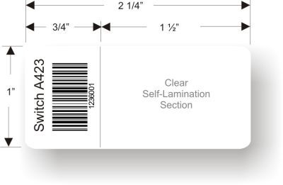 1in. x 1.6in Self Laminating Cable Label