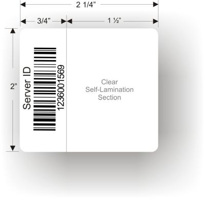 2in x 2.25in Self Laminating Cable Label