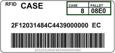 DoD Encoded RFID Shipping Label