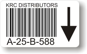 Paper Barcoded Bin Label